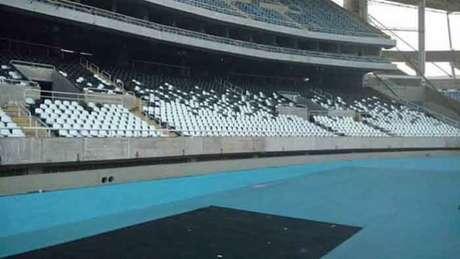 Até o mês que vem, o estádio alvinegro será todo customizado com as cores do clube (Foto: Reprodução/Internet)