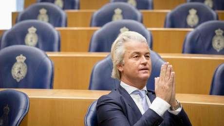 O holandês Geert Wilders, líder do Partido da Liberdade, ataca abertamente o Islã e defende a saída da Holanda da União Europeia