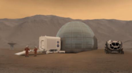 Os astronautas precisarão de refúgios para se proteger das condições extremas de Marte