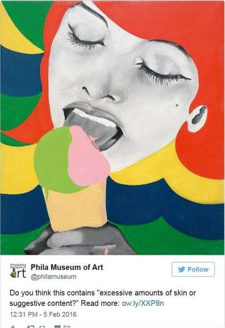 Museu de Arte da Filadélfia protestou ao ter sua publicação sobre esta obra censurada pelo Facebook