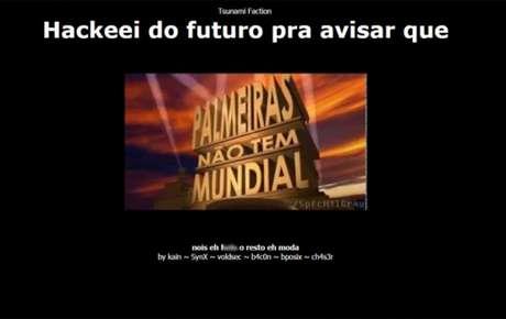 Página oficial do Santos apresentou provocação ao Palmeiras neste sábado (Imagem: Reprodução de internet)