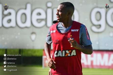 Atacante esteve presente na reapresentação dos principais atletas do Atlético-MG (Foto: Bruno Cantini/Atlético-MG)