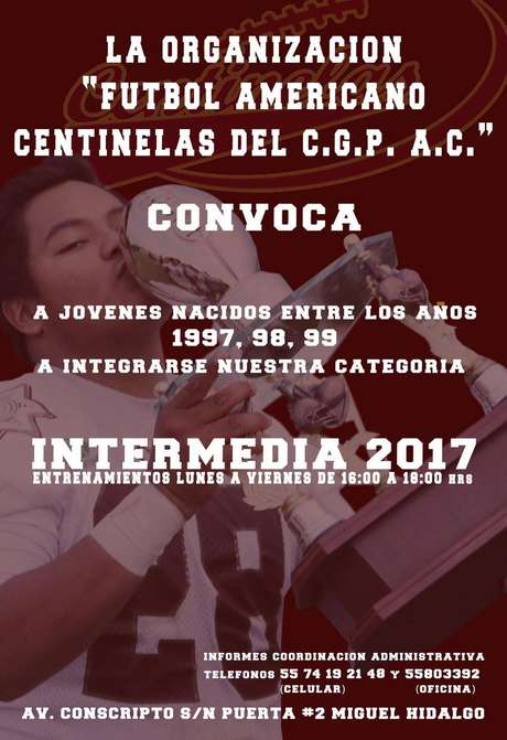 Convocatoria Centinelas CGP 2017