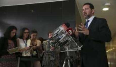 O ministro do Planejamento, Dyogo Oliveira, dá entrevista após reunião do Núcleo de Infraestrutura, no Palácio do Planalto