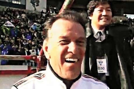 Telê Santana na final do Mundial de Clubes pelo São Paulo (Foto: Reprodução de TV)