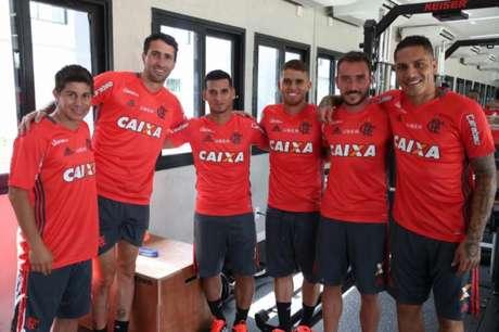 Flamengo tem agora seis estrangeiros no elenco (Gilvan de Souza / Divulgação/ Flamengo)