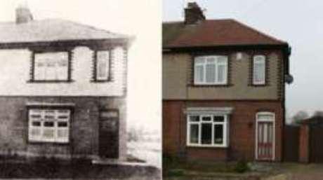A fachada da casa que estava no centro do caso mudou muito pouco desde então