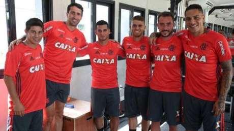 Paolo Guerrero y Miguel Trauco inician pretemporada con Flamengo