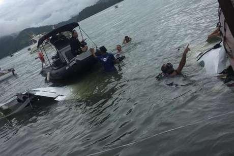 Avião com cinco ocupantes caiu em Paraty, na Costa Verde do Rio de Janeiro