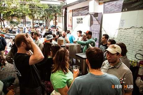 O evento cervejeiro acontece no rooftop do prédio Tomie Ohtake, em SP