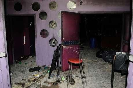 Entrada da Boate Kiss, que pegou fogo no dia 27 de janeiro de 2013