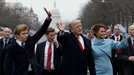 Barron Trump foi alvo de críticas também durante a campanha do pai