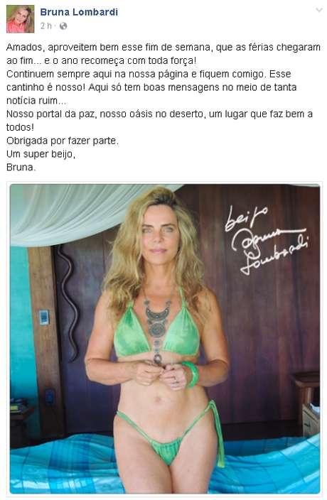 Bruna Lombardi vai completar 65 anos no mês de agosto