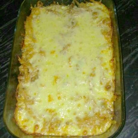 Receita de Macarrão espaguete de forno. Enviada por Flávia e demora apenas 40 minutos.