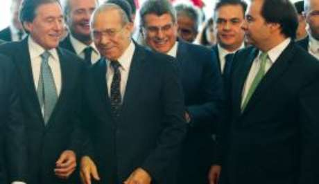O ministro da Casa Civil, Eliseu Padilha, durante solenidade de abertura do ano legislativo