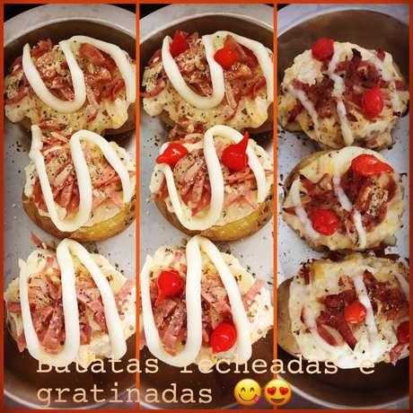 Receita de Batatas recheadas especiais da Dani. Enviada por Daniele Nunes e demora apenas 40 minutos.