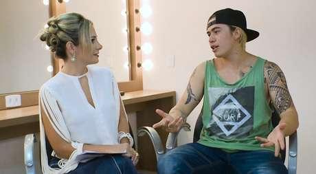 Gaída Dias e Whindersson Nunes na gravação da entrevista