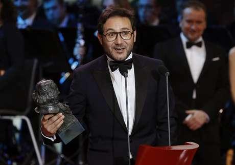 Carlos Santos, al recoger su Goya