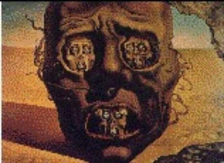 A terrível face da guerra civil ( tela de Dali)
