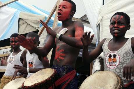 Fotografía del viernes 10 de febrero de 2017 de uno de los grupos del Festival Amani en Goma, República Democrática del Congo.