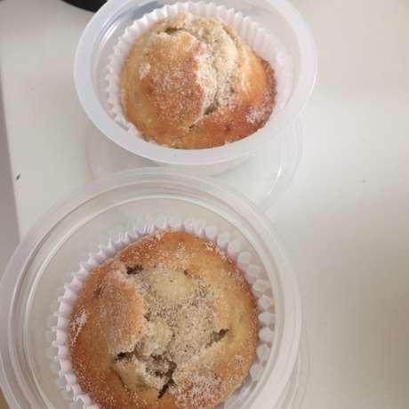 Receita de Muffin de banana ou maçã sem glúten. Enviada por Edise e demora apenas 15 minutos.
