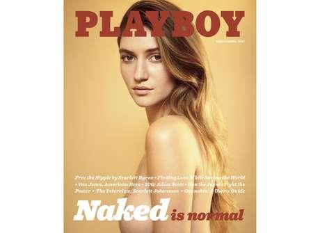 Elizabeth Elam en la portada de Playboy.