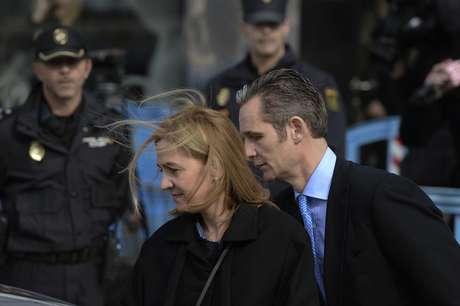 La infanta Cristina e Iñaki Urdangarín, a su llegada al juzgado de Palma