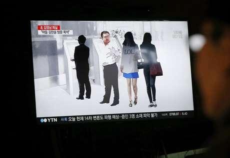 En la imagen, un informativo en la televisión de Corea del Sur que trata sobre la muerte de Kim Jong-nam