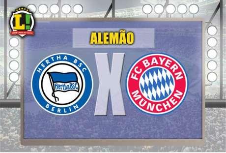 Hertha Berlin e Bayern de Munique medem forças no duelo mais aguardado da rodada (Foto: Montagem / LANCE!)