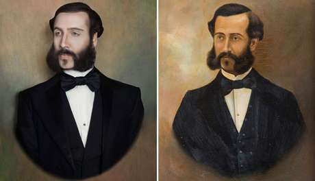 O hexavô de Fuchs (esq.), Eulogio Elespuru y Martinez de Pinillos (dir.), viveu em Paris durante muitos anos