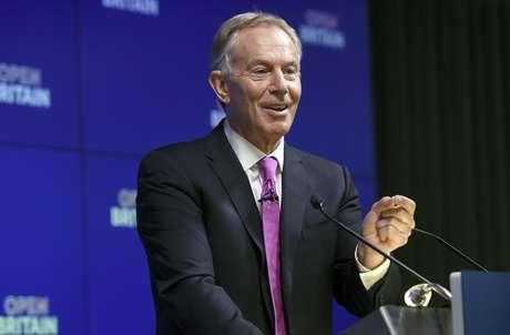 El ex primer ministro británico Tony Blair da un discurso para Open Britain, que hace campaña en contra del Brexit, en Londres, el viernes 17 de febrero de 2017.