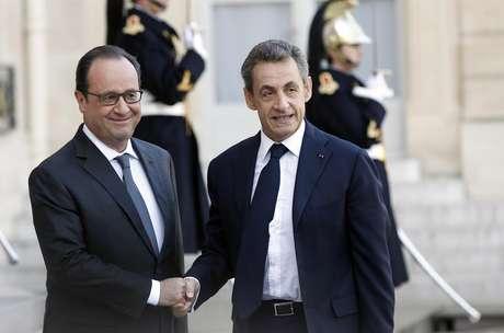 Francois Hollande e Nicolas Sarkozy