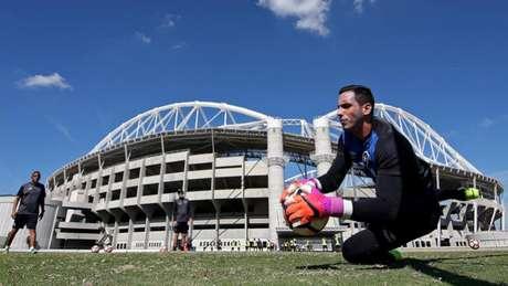 Gatito Fernández foi contratado para ser titular enquanto Jefferson está fora de ação (Vitor Silva/SSPress/Botafogo)