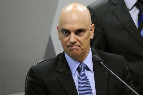 Alexandre de Moraes durante sabatina na CCJ do Senado.