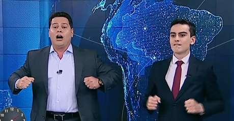 Marcão do Povo e Dudu Camargo: jornalismo dançante