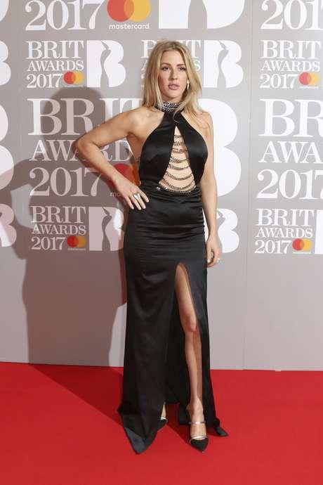 El diseño de Ellie Goulding en la alfombra roja.