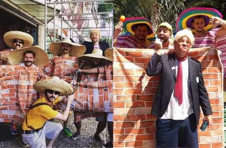 """Teve muro de Trump para deixar claro que o brasileiro não gosta quando mexemos com nossos """"hermanos"""" lá do México."""