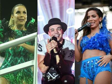 Ivete Sangalo, Wesley Safadão e Anitta prometem agitar o Carnaval de Salvador de 2017