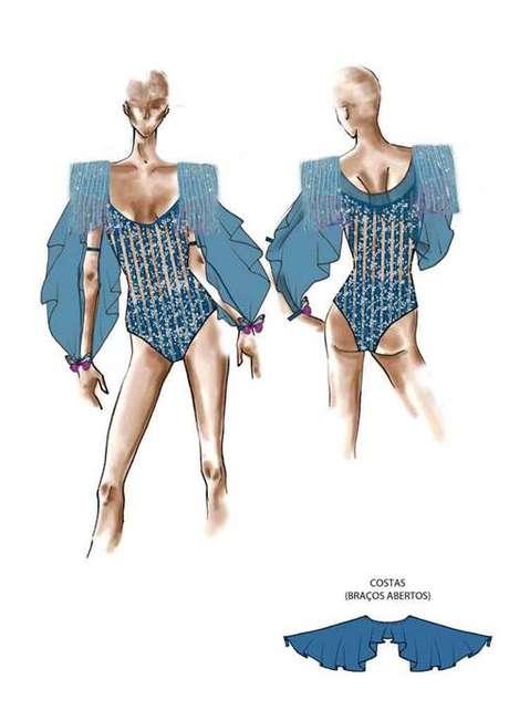 Croquis do look de Anitta para com a banda Eva