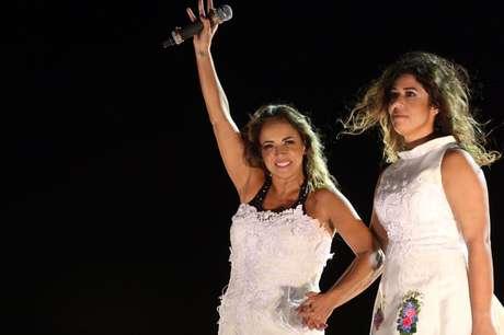 Daniela Mercury e Malu Verçosa em trio de Salvador