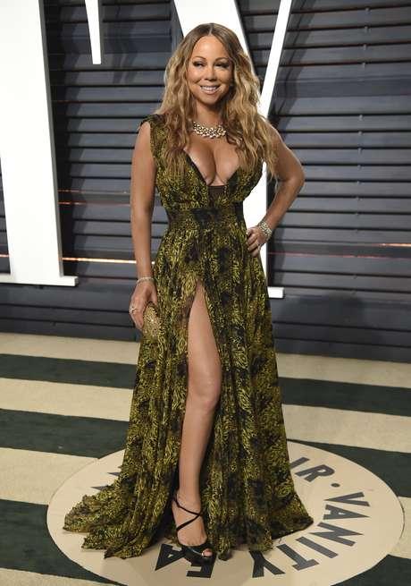 El escote de Mariah Carey en la fiesta post Oscar.