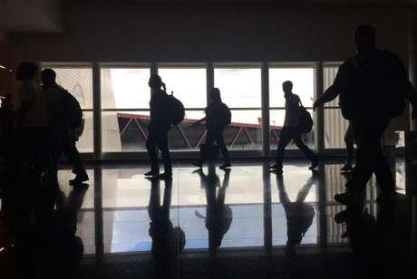 Movimento de passageiros no Aeroporto Internacional de Brasília