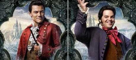 Gaston(Luke Evans) e LeFou (Josh Gad)