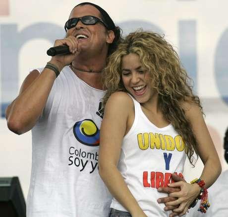 Carlos Vives y Shakira, intérpretes de 'La bicicleta'