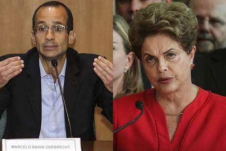 O empresário Marcelo Odebrecht e a ex-presidente Dilma Rousseff