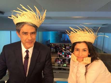 Em época de festa junina, o clima caipira chegou aos apresentadores