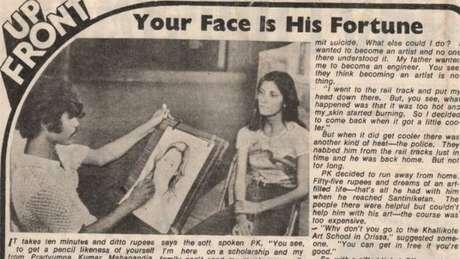 PK Mahanandia chegou a ser assunto de jornais indianos nos anos 1970, que destacavam sua capacidade de desenhar em apenas 10 minutos