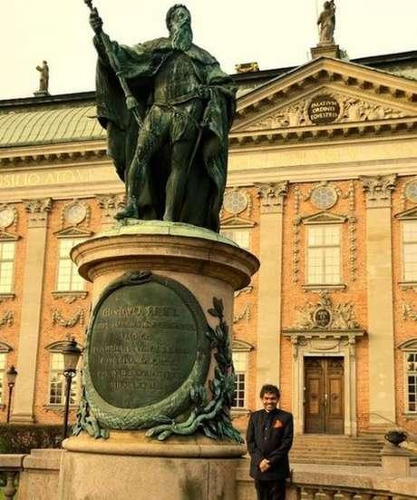 PK Mahanandia continuou trabalhando como artista na Suécia
