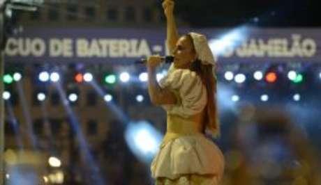 A cantora Ivete Sangalo foi homeageada pela Grande Rio