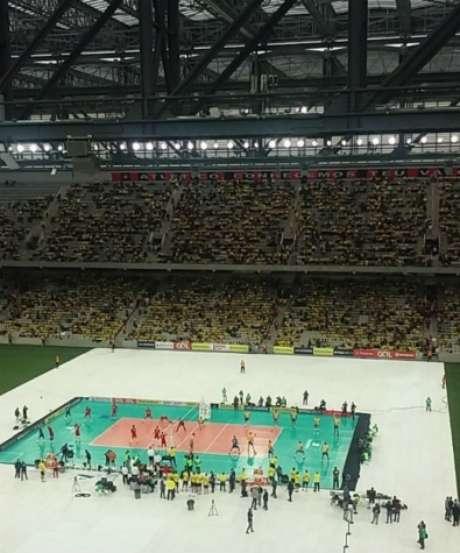 Arena da Baixada recebeu duelo entre Brasil e Portugal em outubro de 2016 (Foto: Daniel Bortoletto)